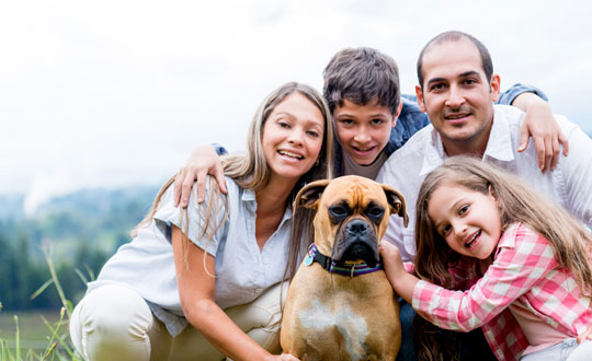 Image result for family with dog